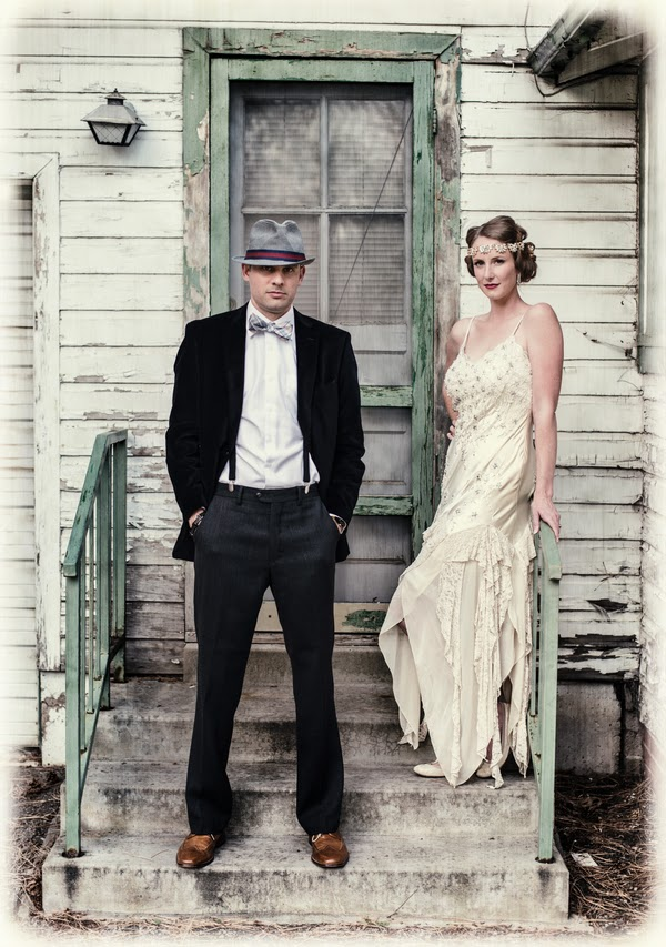 bride+groom+vintage+retro+1920s+1920+20+20s+roaring+art+deco+rustic+unique+modern+hipster+wedding+reception+bridal+gown+jewels+photography+2 - The Whiskey 'I Dos'