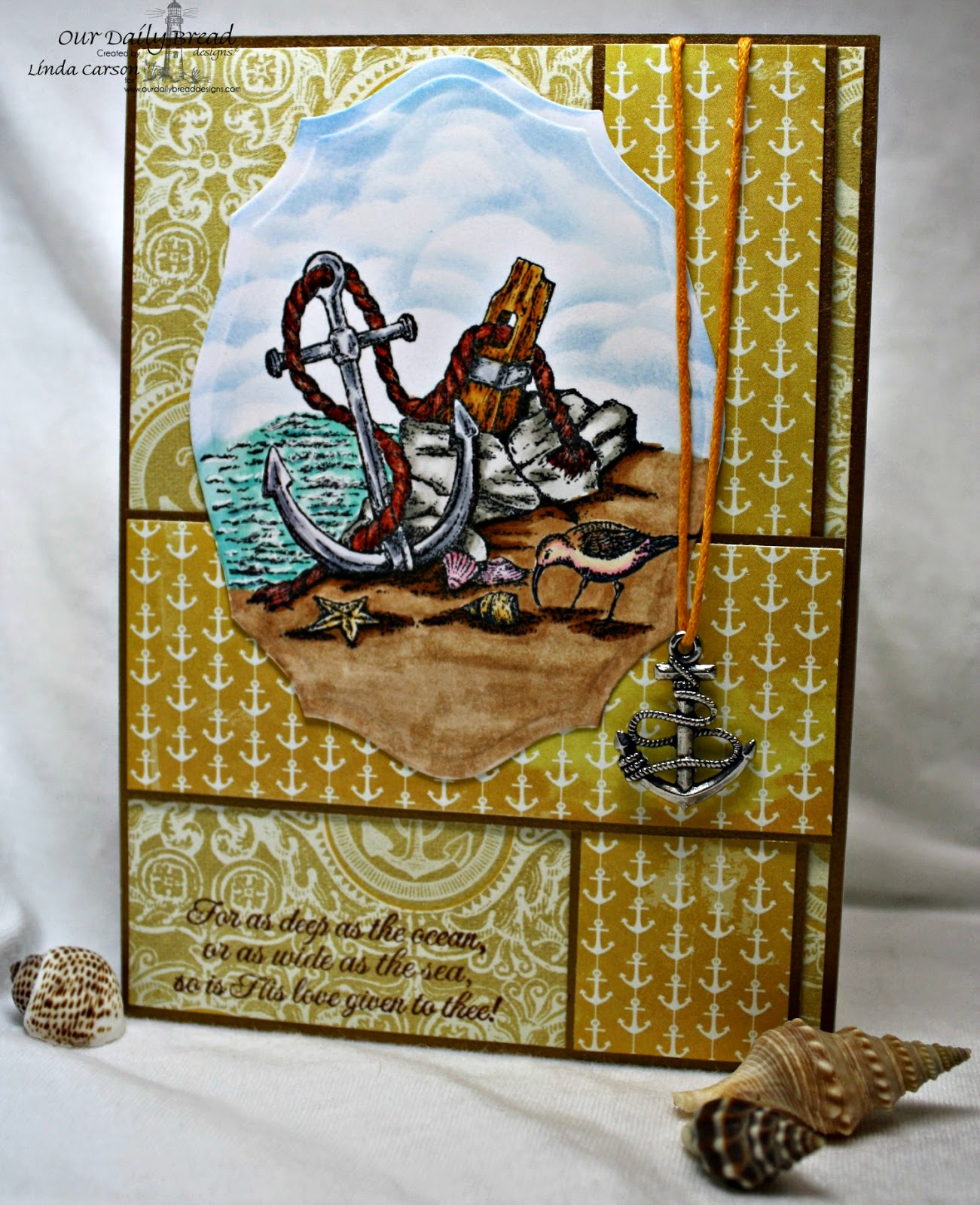 Our Daily Bread Designs, Anchor, The Mighty Sea, Elegant Oval dies, designer Linda Carson