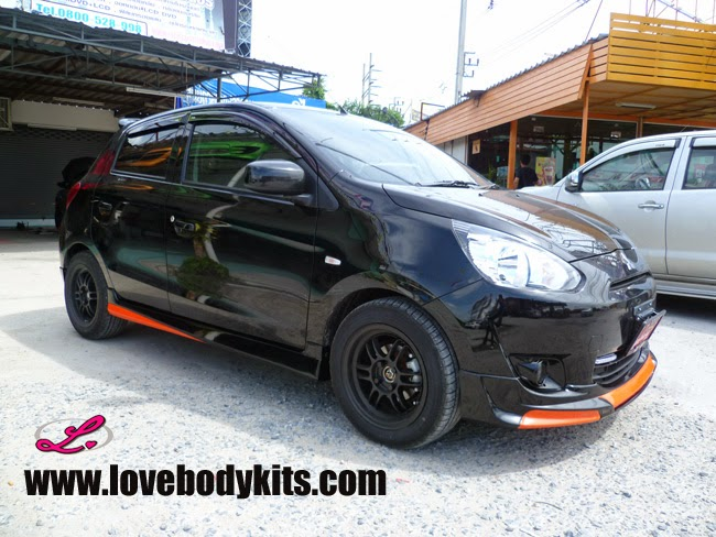 Body Kit Access Plus - Mitsubishi Mirage samping depan