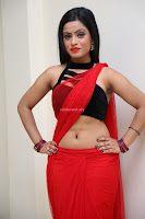 Aasma Syed in Red Saree Sleeveless Black Choli Spicy Pics ~  Exclusive Celebrities Galleries 029.jpg