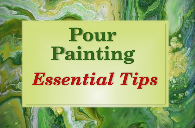 Acrylic Pouring tips and suggestions to avoid mistakes. Fluid art suggestion on colors, workspace, medium, torch, base coat to help pour paints flow easily