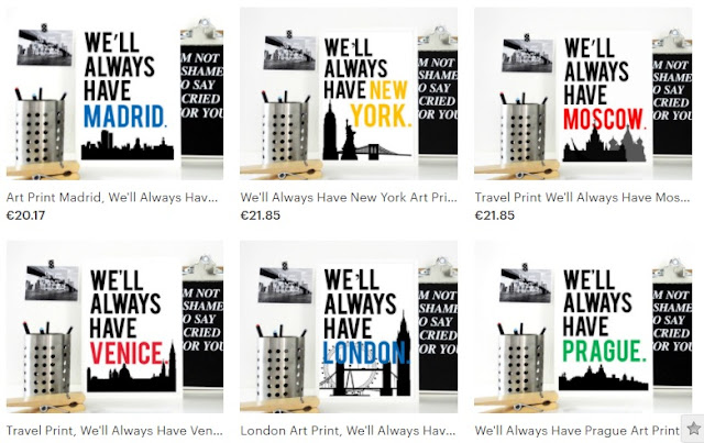 destination typography posters from sacred and profane designs shop on etsy titled we'll always have