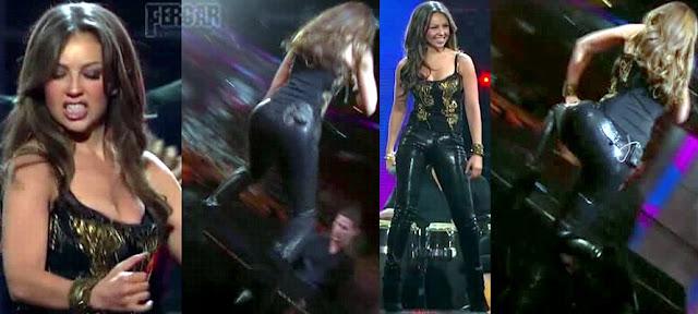 Thalia Video Pantalones De Cuero Con Botas