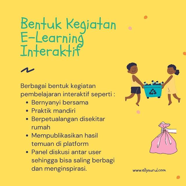 bentuk kegiatan e-learning sampahku tanggung jawabku