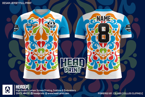 Drip Color Jersey Full Print Custom - Head Print Jersey