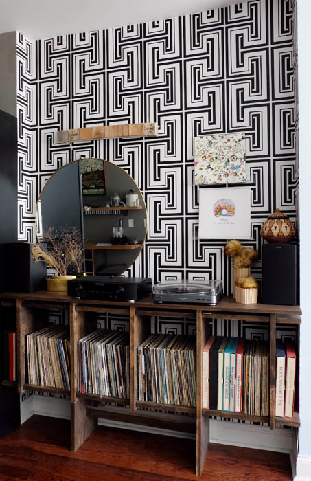 redone record player area