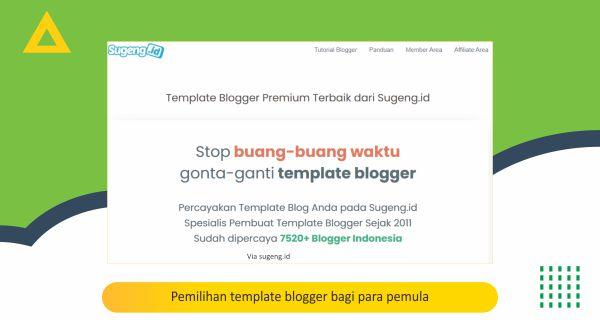 Pemilihan template blogger bagi para pemula