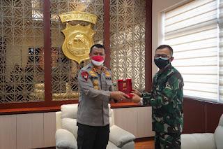 Danrem 064/MY Kunjungan Silahturahmi ke Kapolda Banten