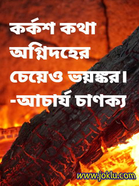 Something more dangerous than fire Bengali quote by Chanakya