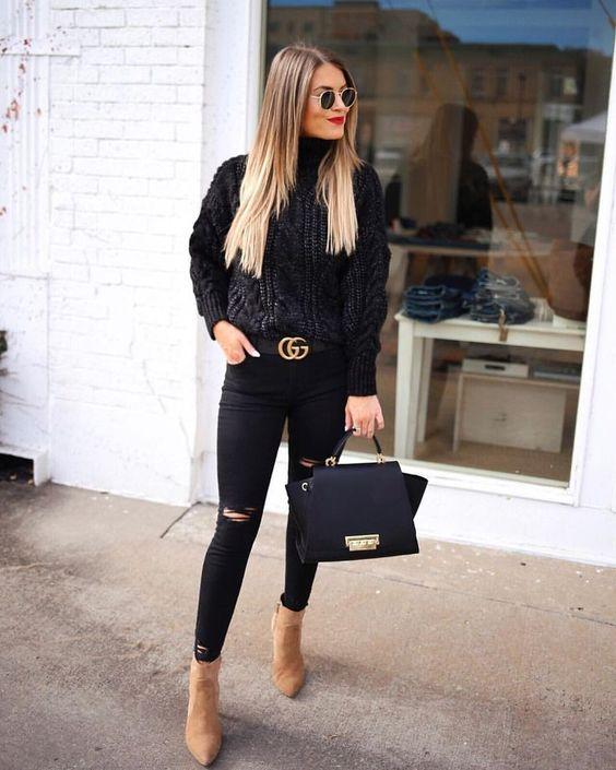look preto para trabalhar estiloso