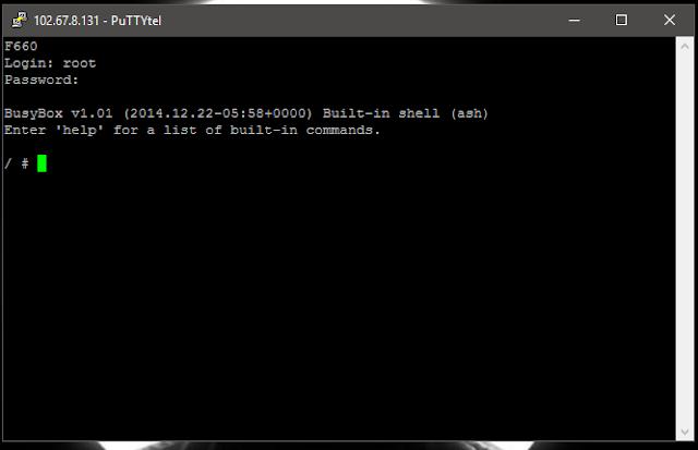 Exploit Router ZTE F660