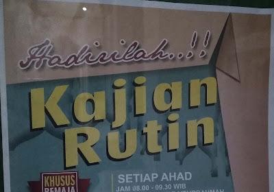 Jadwal Kajian Rutin Setiap Ahad di Masjid Jami' Baiturrahmah Solo