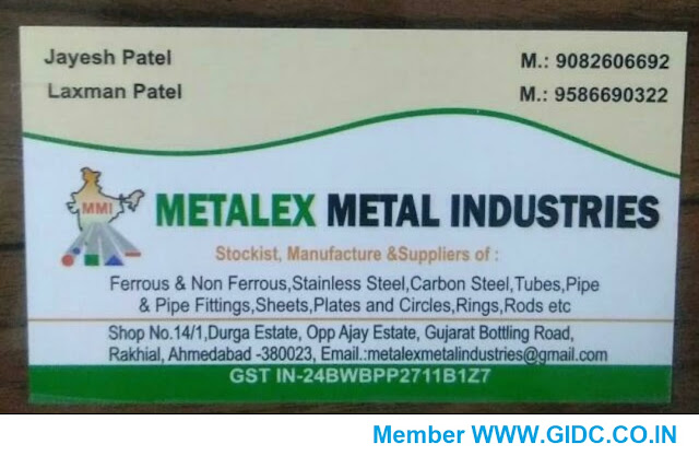 METALEX METAL INDUSTRIES - 9082606692 | 9586690322 | 24BWBPP2711B1Z7