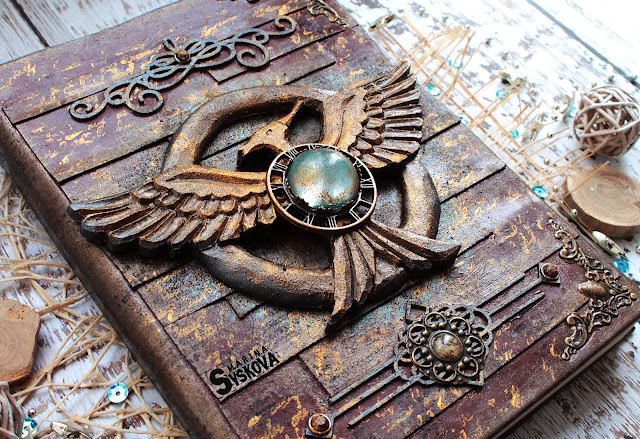 @marinasyskova #scrapbooking #notebook #mockingjay