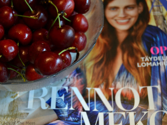 kirsikat, cherries, lehti, magazine