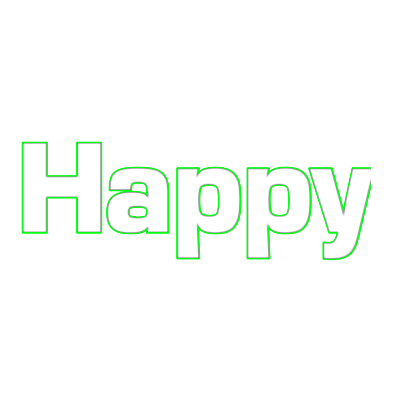 Happy text png
