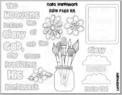 FREE Gods Handiwork Bible Page Kit by Lot95Designs