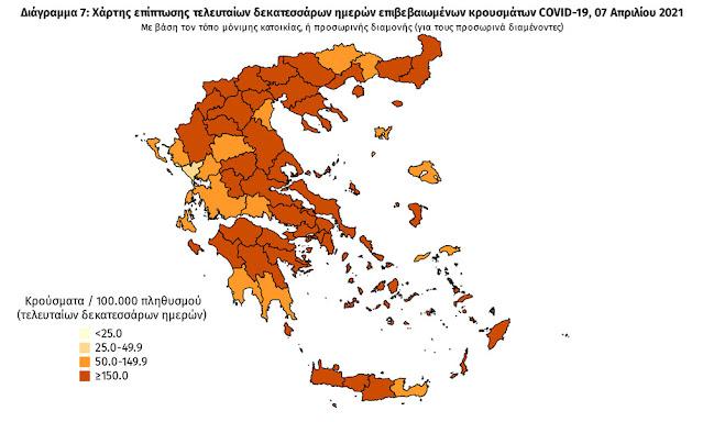 Την καλύτερη επιδημιολογική εικόνα των τελευταίων 2 εβδομάδων, σε όλη τη χώρα, παρουσιάζει ο Νομός Πρέβεζας, όπως αυτή αποτυπώνεται στον χάρτη του ΕΟΔΥ.