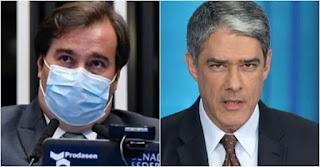 Rodrigo Maia diz que não ironizou William Bonner ao falar sobre uso de máscara