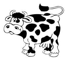 Immagini di mucca da colorare for Immagini da colorare aristogatti
