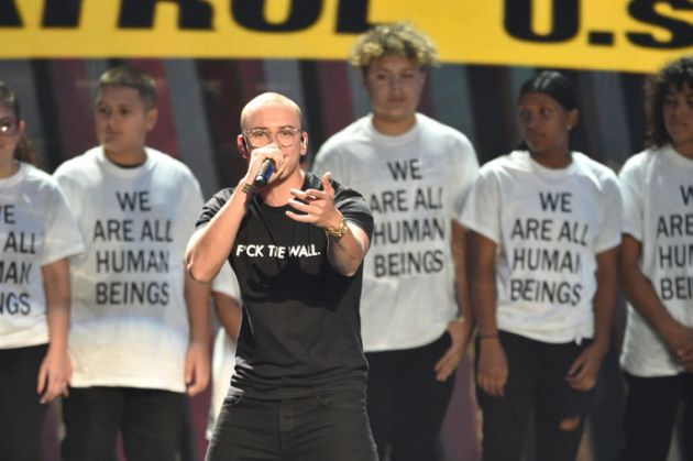 """Fuck The Wall"" and ""We Are All Human Beings"" T-shirts. PYGear.com"