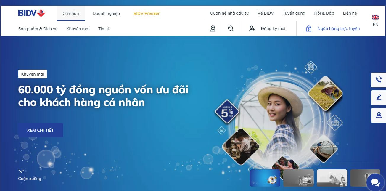 Đăng ký mở thẻ BIDV online