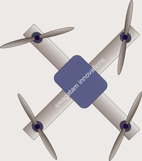 Cross style quadcopter orientation