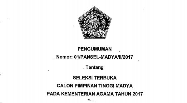 lowongan kerja kantor kementrian agama tahun 2017