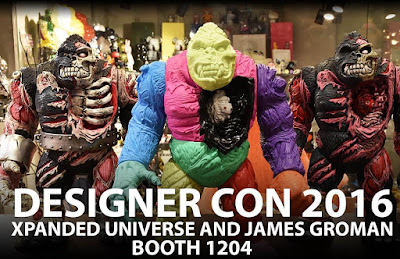 Designer Con 2016 Exclusive King Korpse 1-Off Custom Vinyl Figures by James Groman