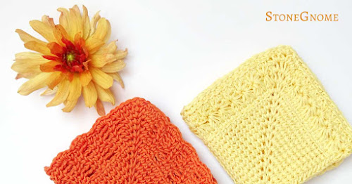 Special Stitching - crochet washcloths - StoneGnome Design