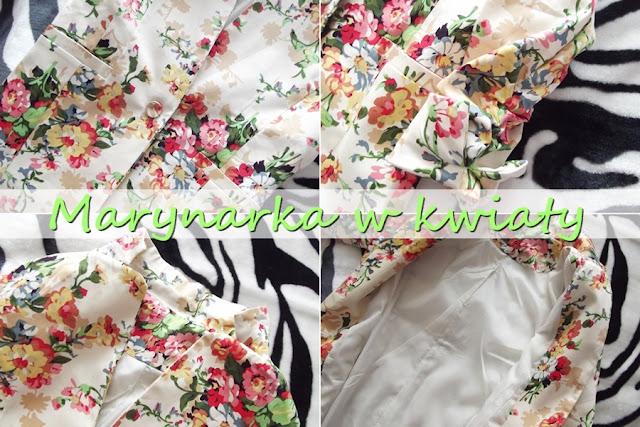 1421f32cf0a52 NOWOŚCI W SZAFIE / marynarki w kwiaty - Monika bloguje...