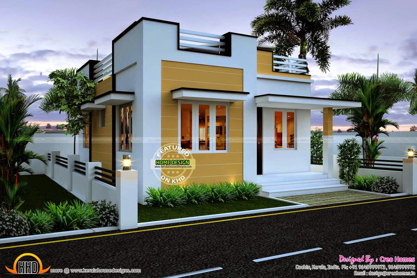 More than 80 pictures of beautiful houses with roof deck for Small bungalow design india