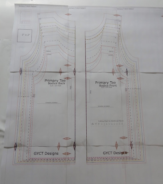 PDF sewing pattern taped