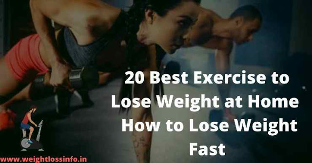 The 20 Best Exercise to Lose Weight at Home