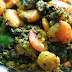 Kochu Pata diye Chingri / Colocasia with Shrimps: Recipe with Step by Step Pictures