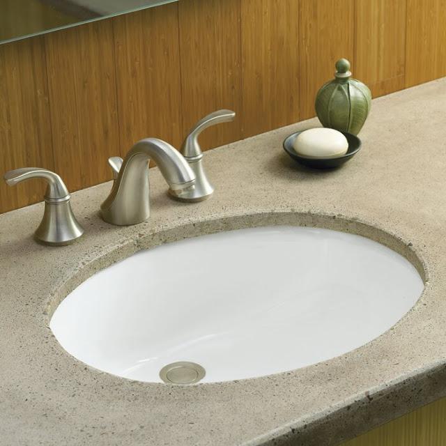 K-2210-0 Caxton Ceramic Oval Undermount Bathroom Sink with Overflow