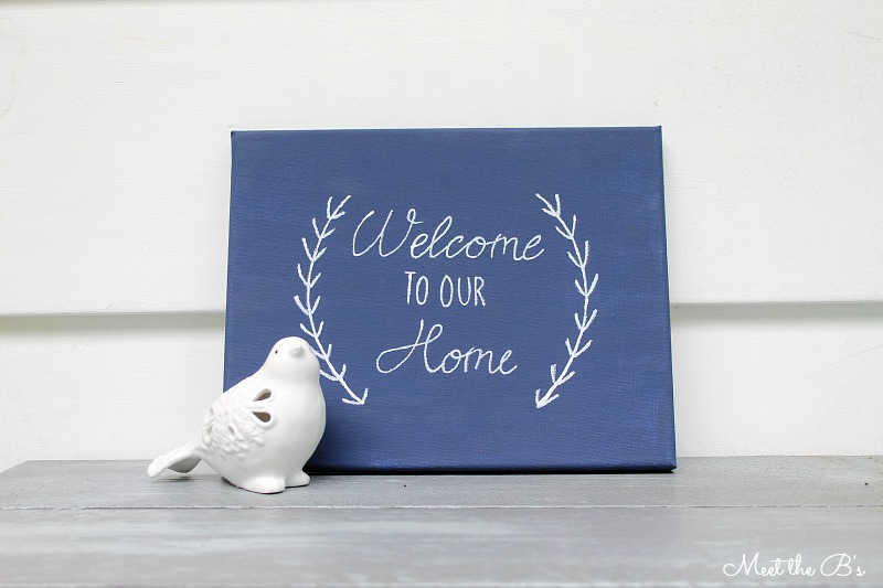 Housewarming gift idea- painted canvas sign | Meet the B's