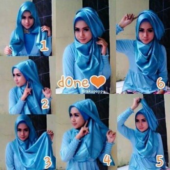 tips tutorial hijab style 2