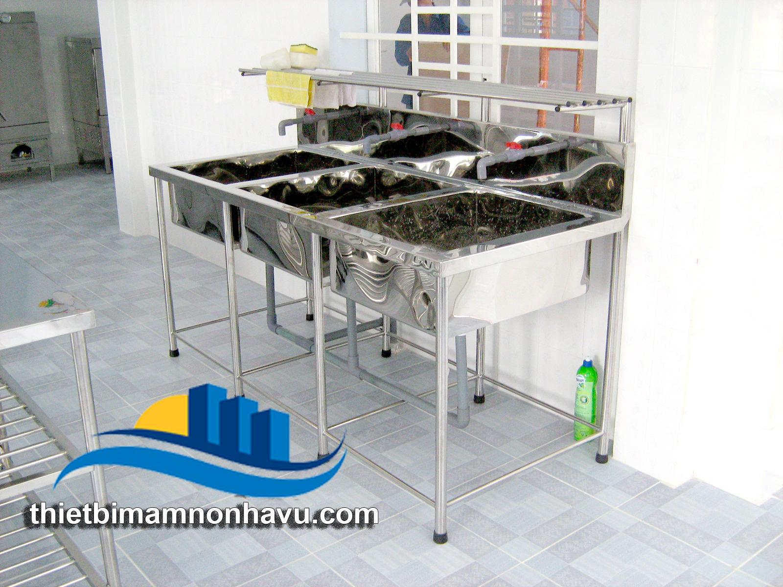 Bồn rửa thực phẩm 3 ngăn