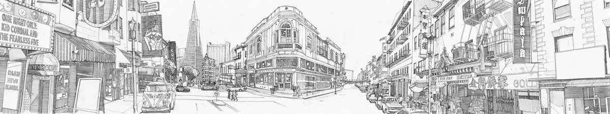 11-San-Francisco-Tom-Hopkinson-Drawings-of-our-Lives-Depicted-in-Urban-Sketches-www-designstack-co