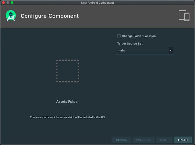 Configure Assets Folder Android