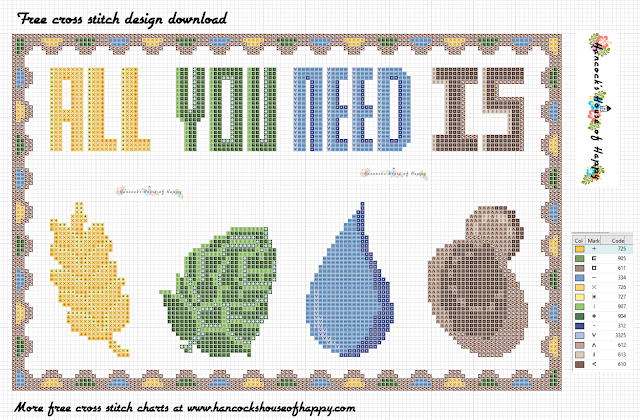 All You Need Is Barley, Hops, Water and Yeast Free Craft Beer Cross Stitch Sampler
