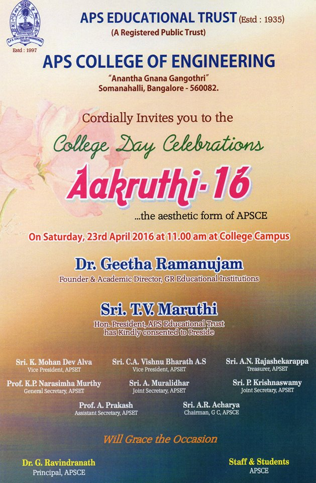 kwikstudy college day apsce invites all for the college annual day