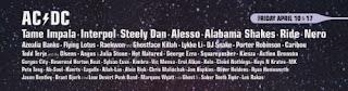 lista de presentaciones de Coachella