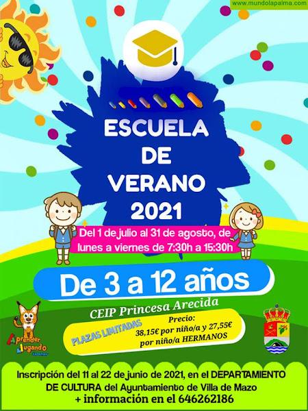 Villa de Mazo abre plazo de inscripción para la Escuela de Verano 2021