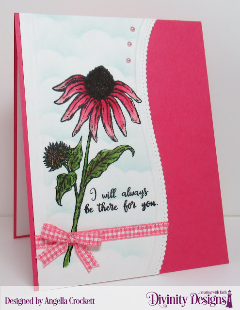 Divinity Designs LLC Forever Friends and Leafy Edged Borders Dies, Card Designer Angie Crockett