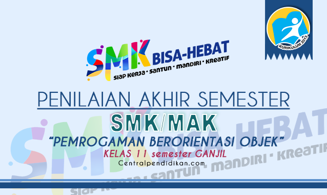Latihan Soal PAS Pemrograman Berorientasi Objek Kelas 11 SMK 2021 dan Jawabannya