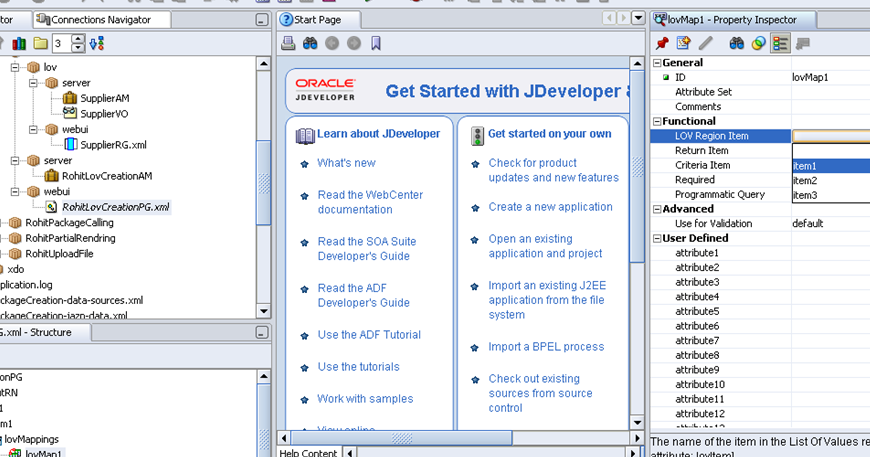 Oracle Application's Blog: what is criteria item in oaf lov
