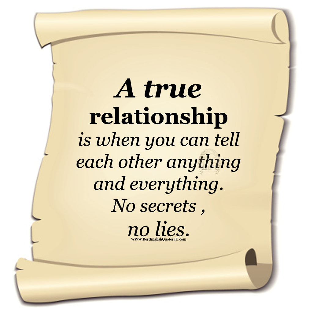 Best English Quotes & Sayings: A true relationship is when