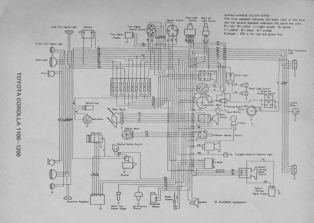 1999 toyota corolla headlight wiring diagram  1995 yamaha